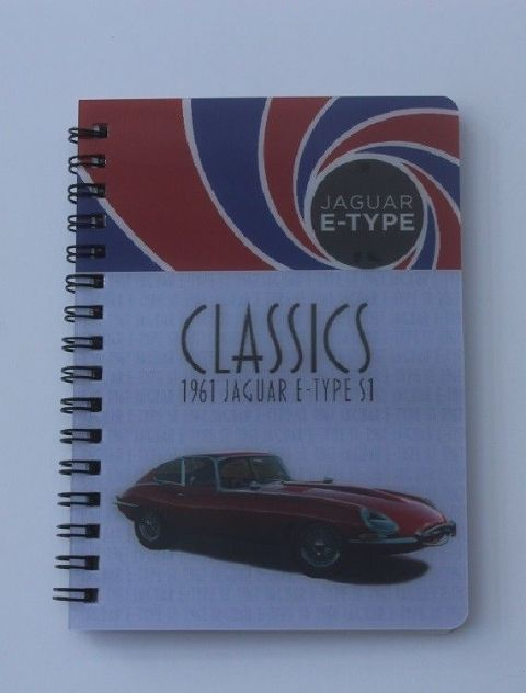 E TYPE JAGUAR SERIES 1 3D Notebook